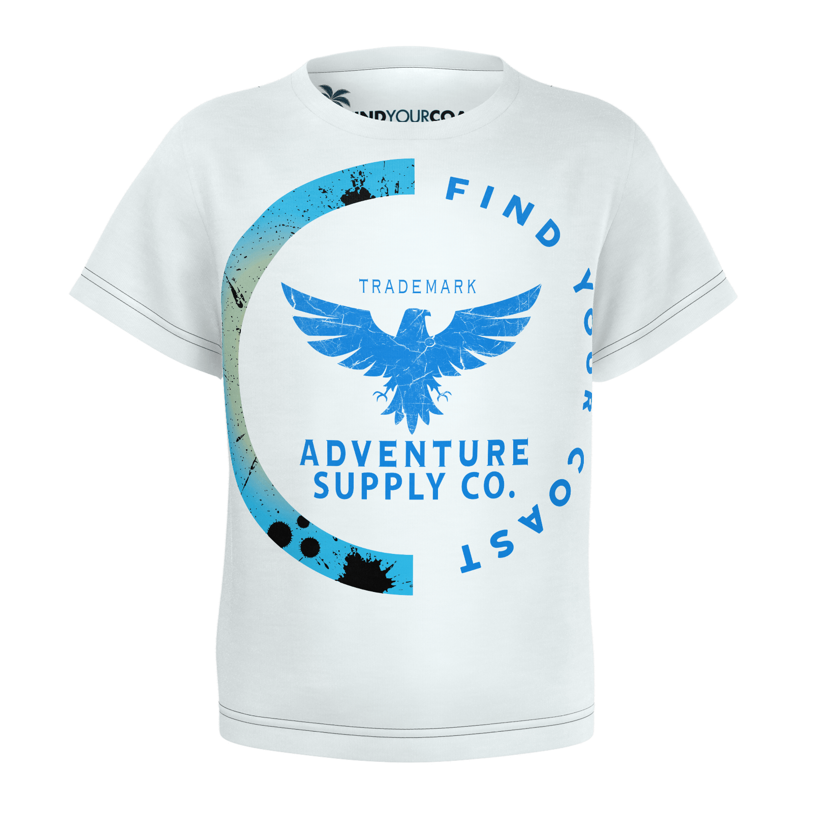 Toddler Find Your Coast Adventure Supply Co. Sustainable Short Sleeve Tee Shirt - Find Your Coast Supply Co.