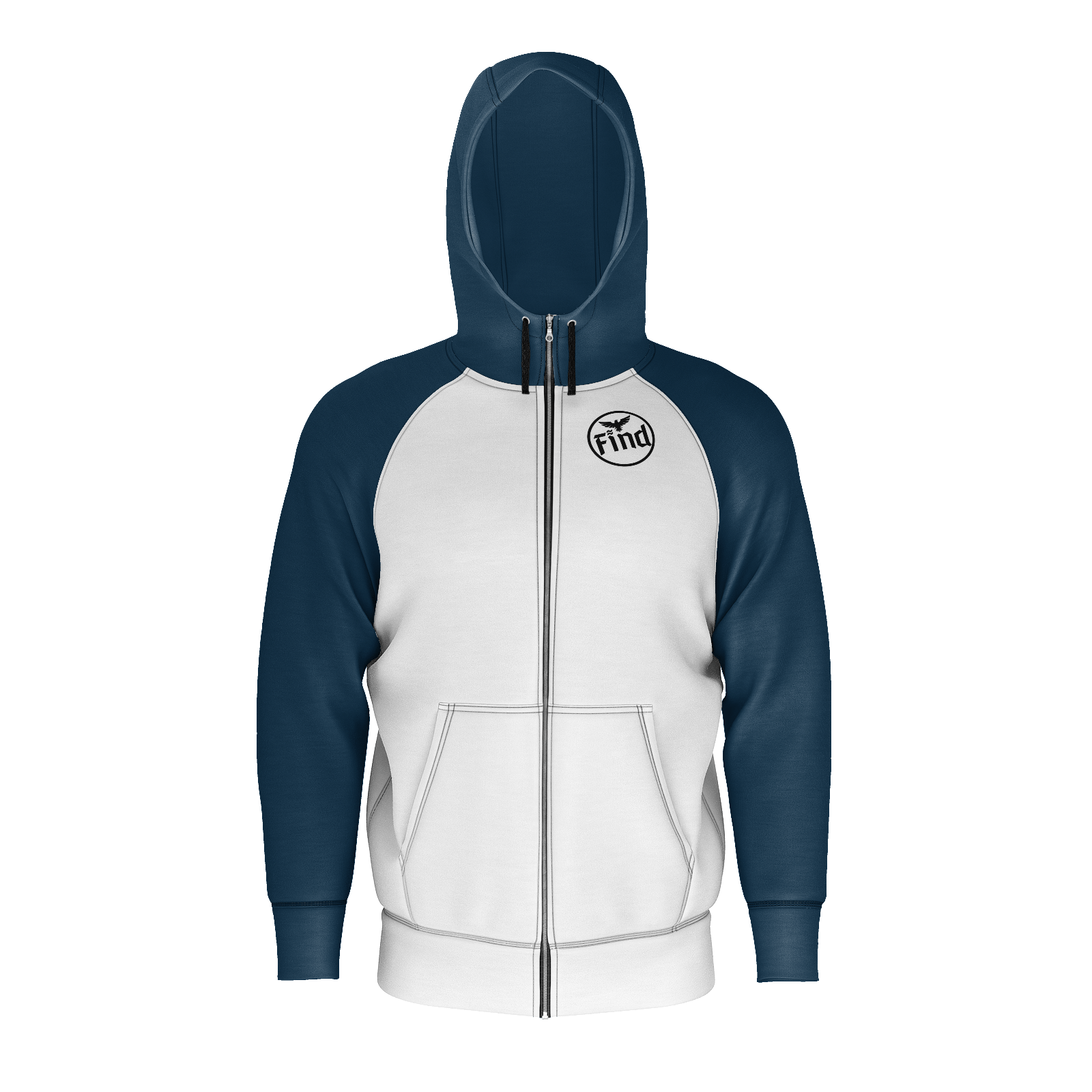 Men's Find Your Coast Sustainable Long Sleeve Limited Edition Find Raglan Full Zip Hoodie - Find Your Coast Supply Co.