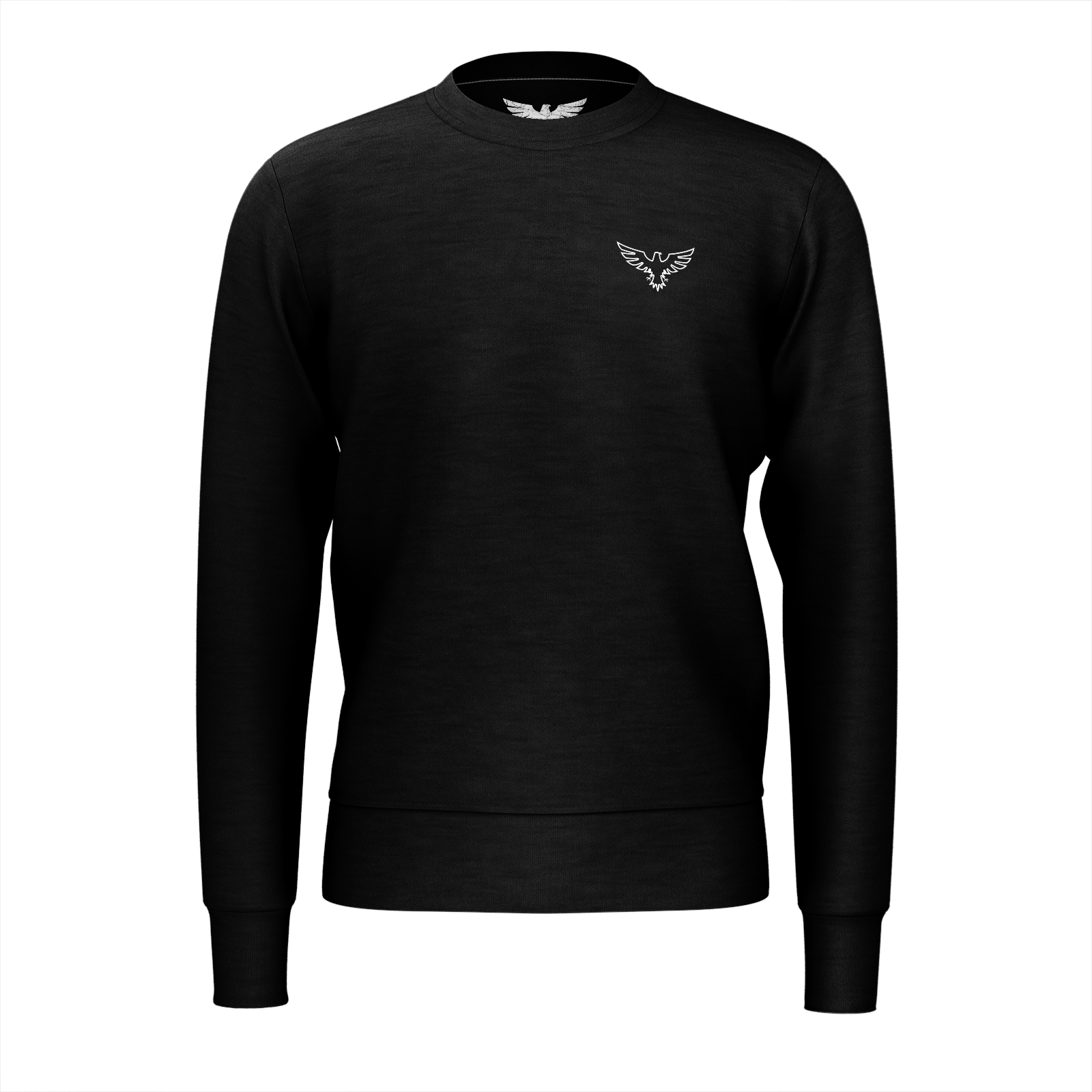Men's Supply Co. Sustainable Solid Black Long Sleeve Crewneck Sweatshirt - Find Your Coast Supply Co.
