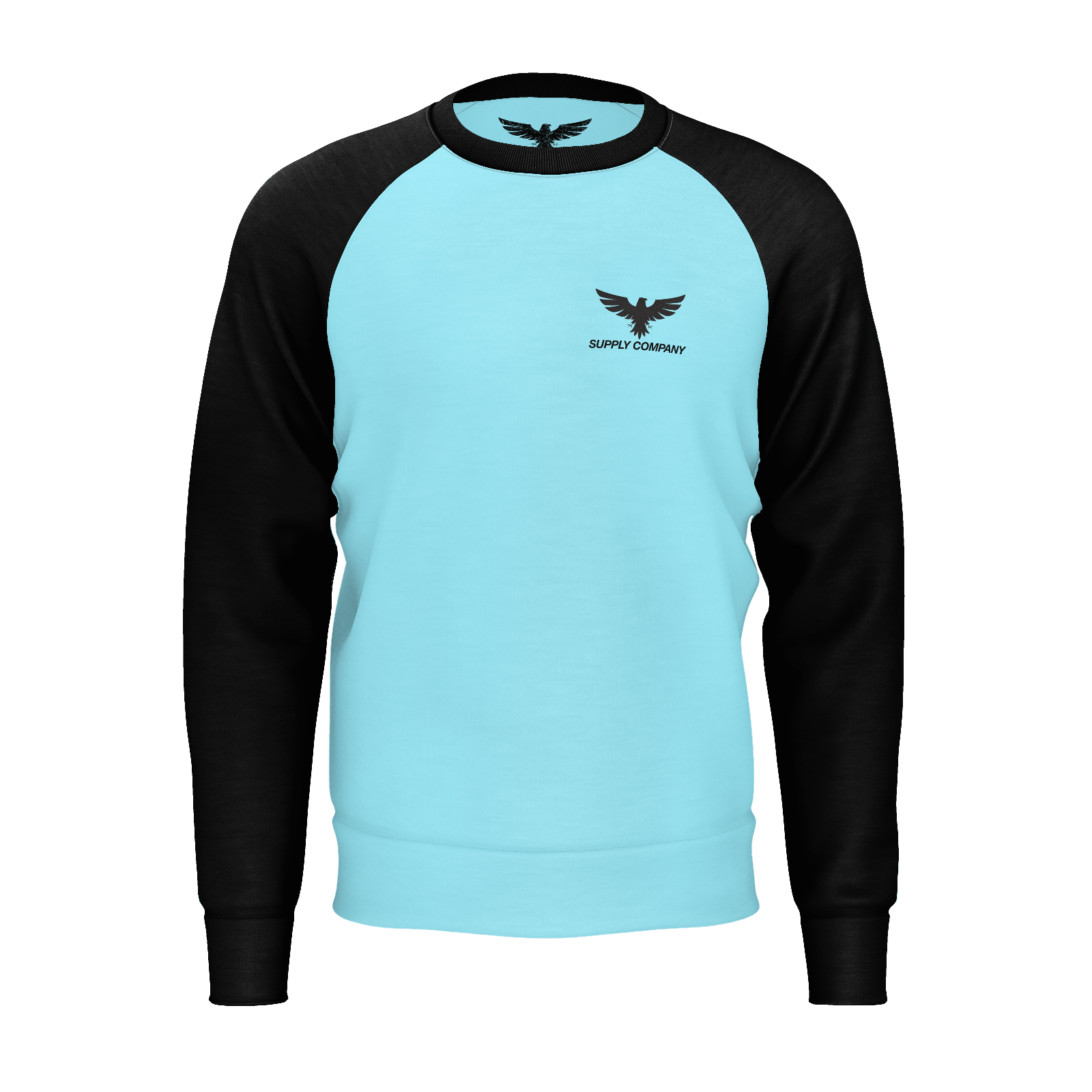Men's Original Swell Sustainable Raglan Crewneck Sweatshirt - Find Your Coast Supply Co.