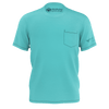 Men's Flat Teal Sustainable Charter Pocket Tee Shirt