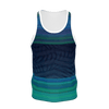 Men's Find Your Coast Sustainable Green Striped Tank Top - Find Your Coast Supply Co.