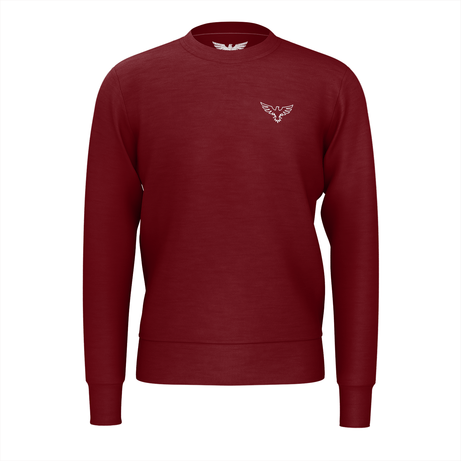 Men's Supply Co. Sustainable Solid Maroon Long Sleeve Crewneck Sweatshirt - Find Your Coast Supply Co.
