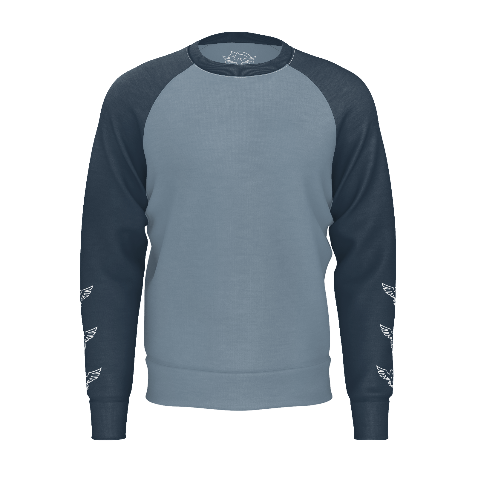 Men's FYC Logo Blue/Grey Sustainable Raglan Crewneck