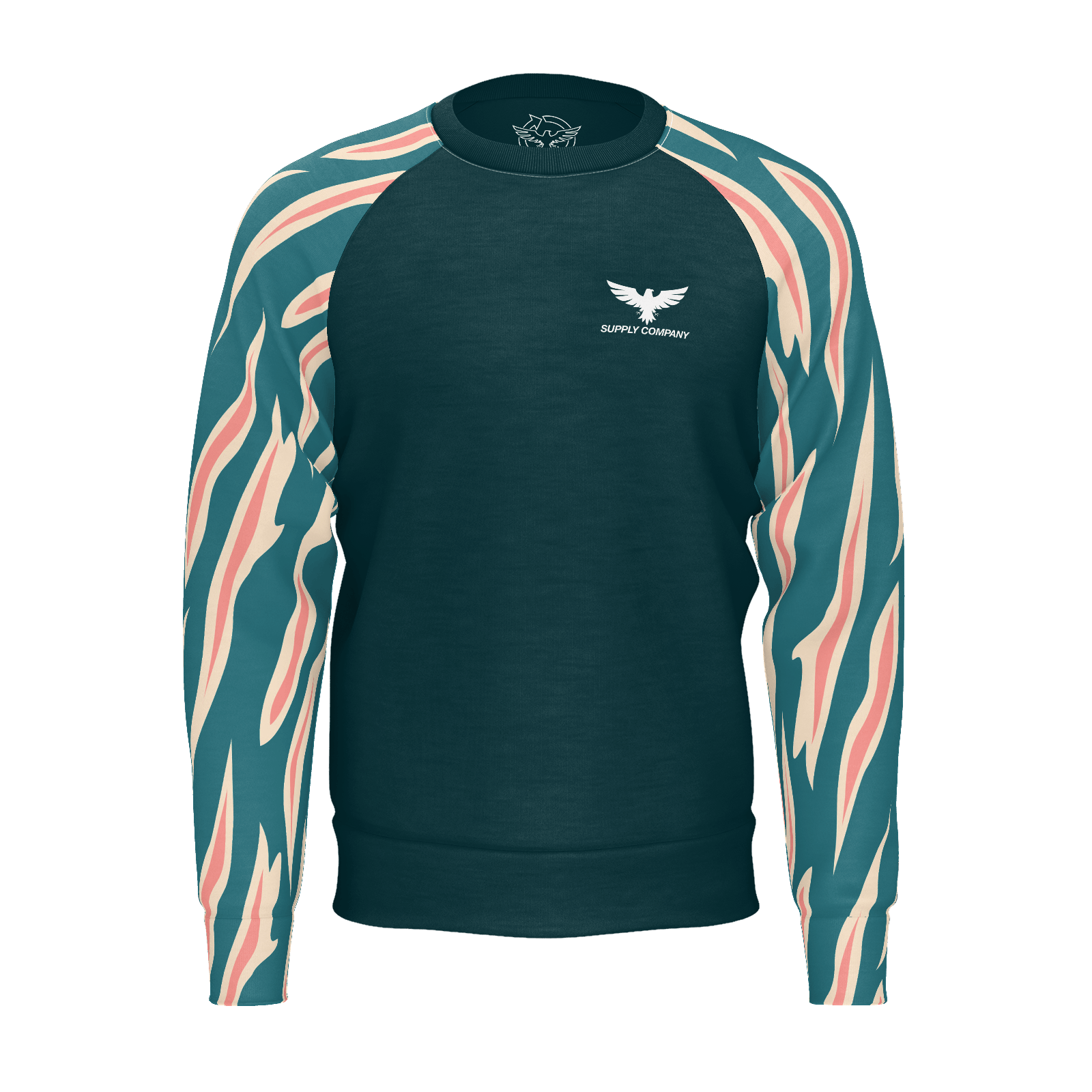 Men's Find Your Coast Caribbean Adventure Lightweight Recycled rPET Raglan Sweatshirt - Find Your Coast Supply Co.