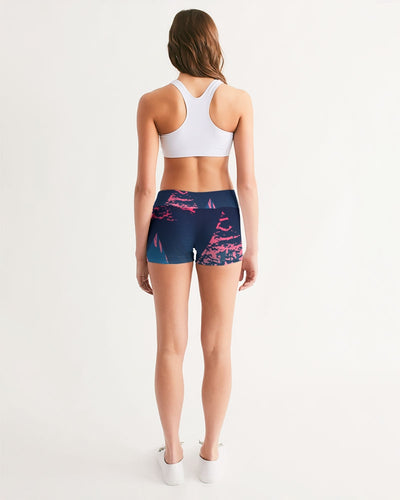 Women's Active Comfort Victory Mid-Rise Yoga Shorts - Find Your Coast Supply Co.