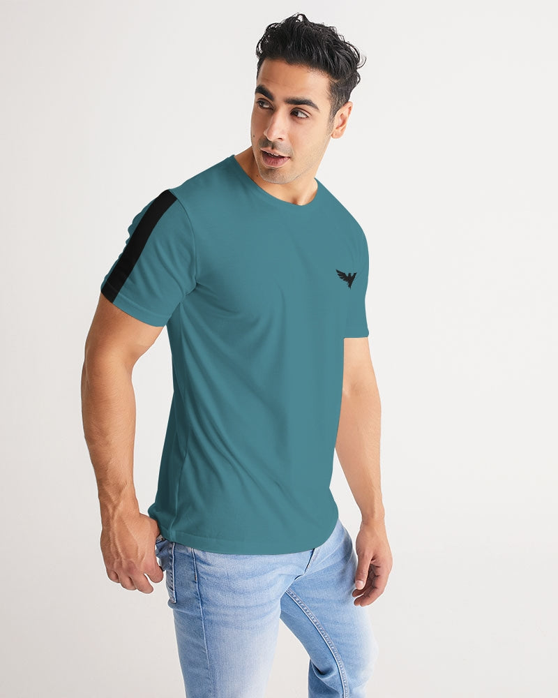 Men's Harvard Stripe Dark Teal Short Sleeve Tee Short - Find Your Coast Supply Co.