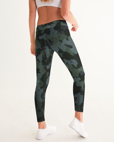 Women's Active Comfort Black Camo Sport Yoga Pant - Find Your Coast Supply Co.
