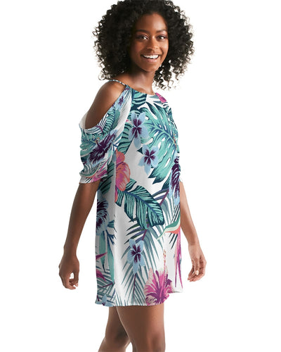Women's Island Life Open Shoulder A-Line Dress - Find Your Coast Supply Co.