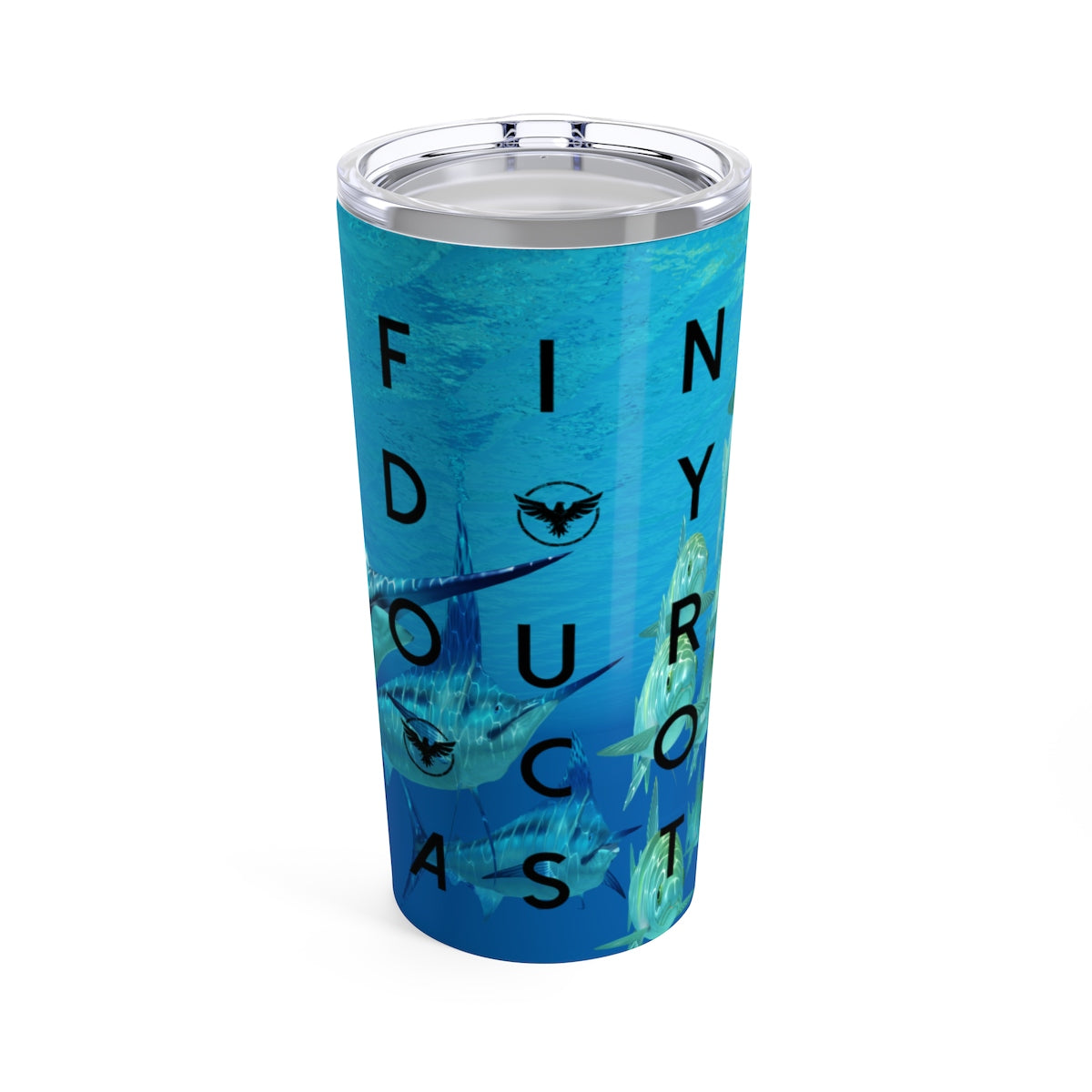 FYC Stainless Steel Offshore Fishing 20 oz Travel Tumbler - Find Your Coast Supply Co.