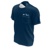 Men's FYC Supply Co. Time To Chill Navy Sustainable Pocket Tee Shirt - Find Your Coast Supply Co.