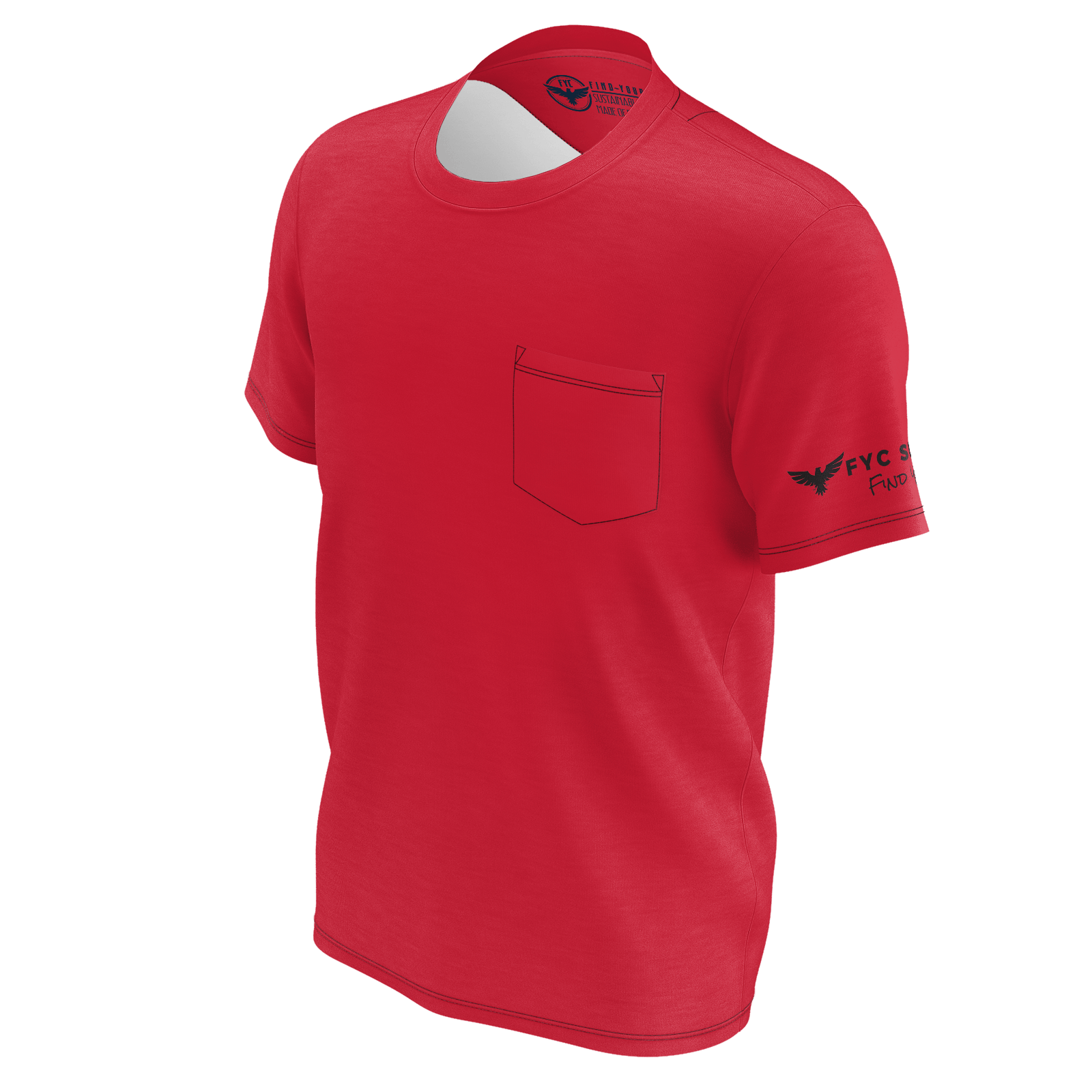 Men's Burnt Red Sustainable Charter Pocket Tee Shirt