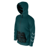 Men's FYC Teal & Black Our Outdoors Edition Sustainable Full Zip Hoodie