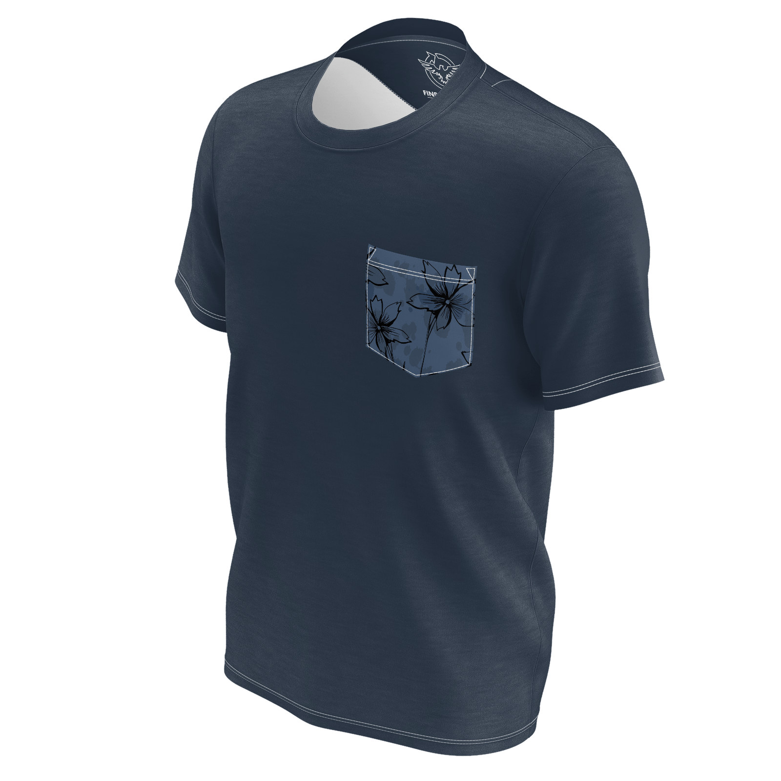 Men's Pacific Supply Sustainable Navy Pocket Tee Shirt - Find Your Coast Supply Co.