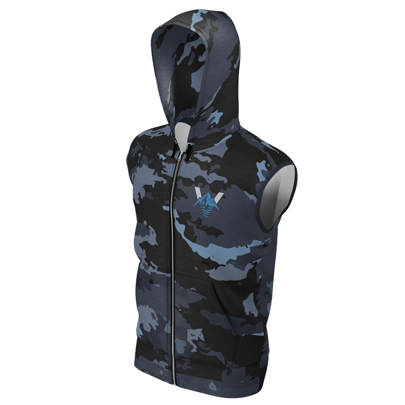 Men's Supply Co. Coast Camo Venture Pro Edition Sustainable Sleeveless Lake Tahoe Hoodie