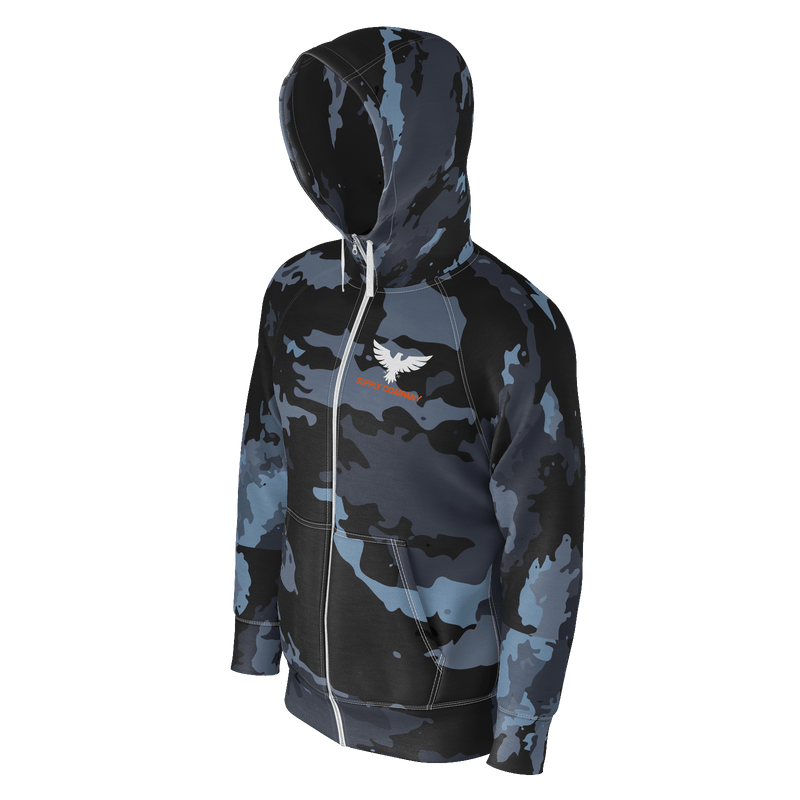 Men's Supply Company Coast Camo Sustainable Long Sleeve Zip Up Hoodie