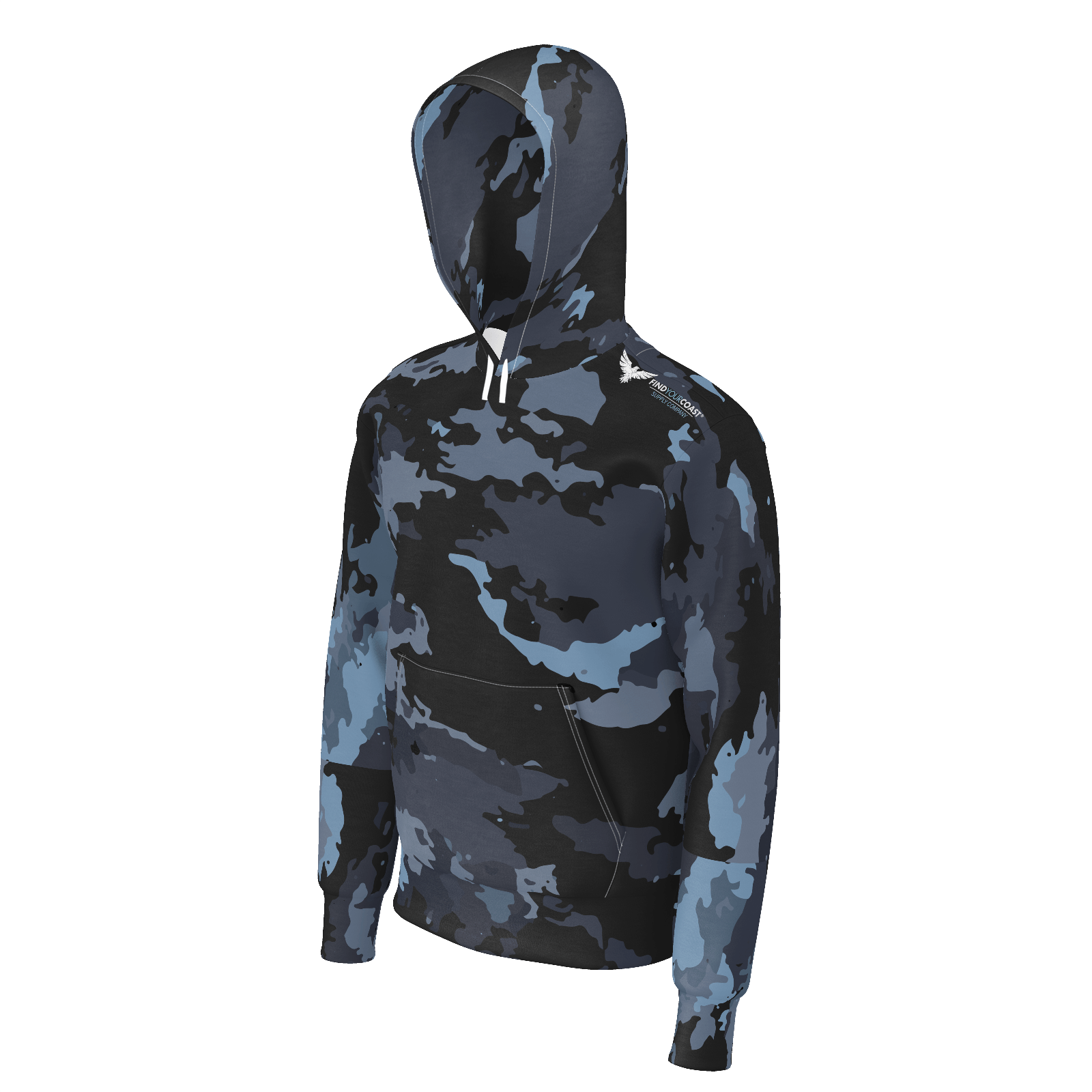 Men's Find Your Coast Supply Co. Tahoe Camo Sustainable Pullover Sweatshirt Hoodie - Find Your Coast Supply Co.
