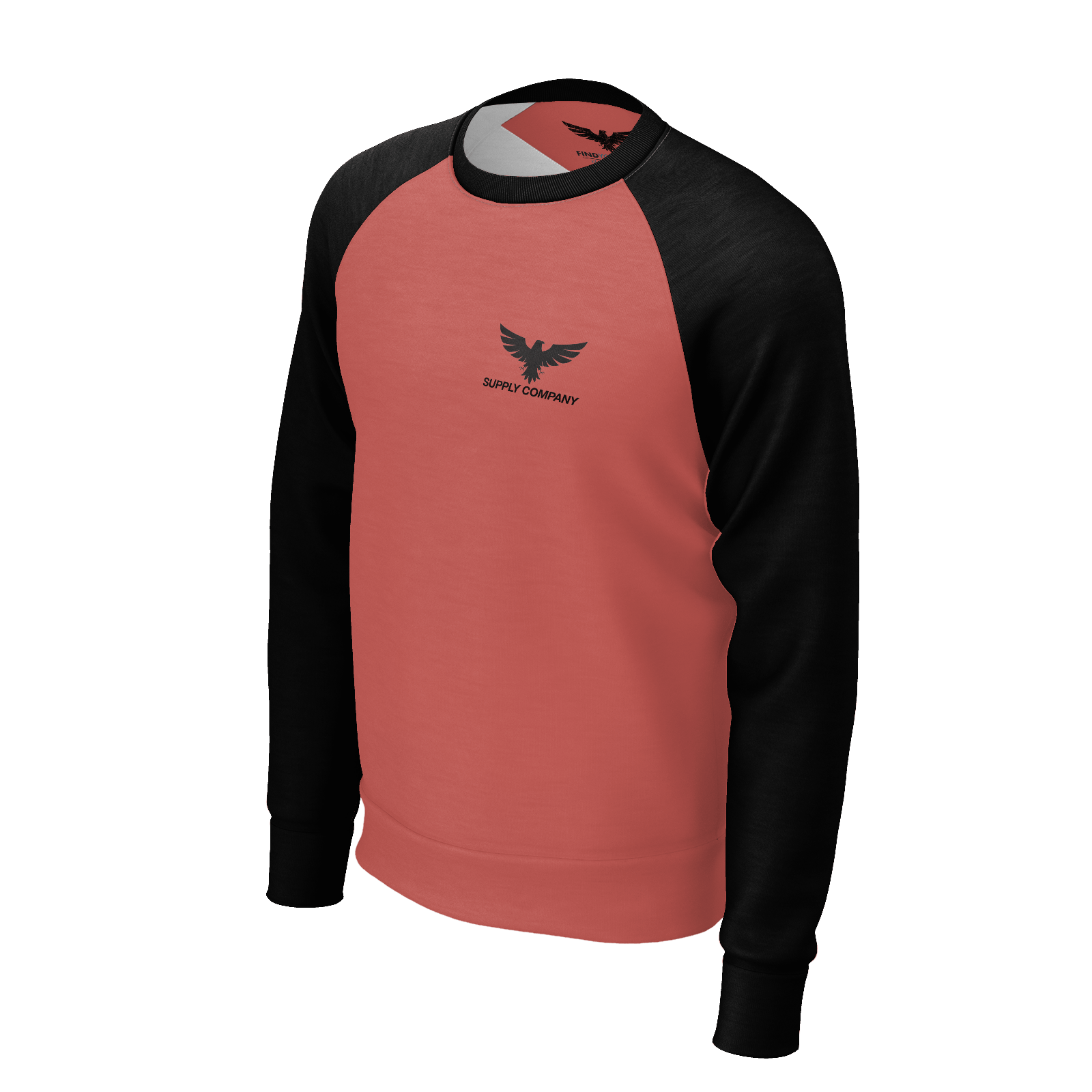 Men's Rise and Go Sustainable Raglan Crewneck Sweatshirt - Find Your Coast Supply Co.