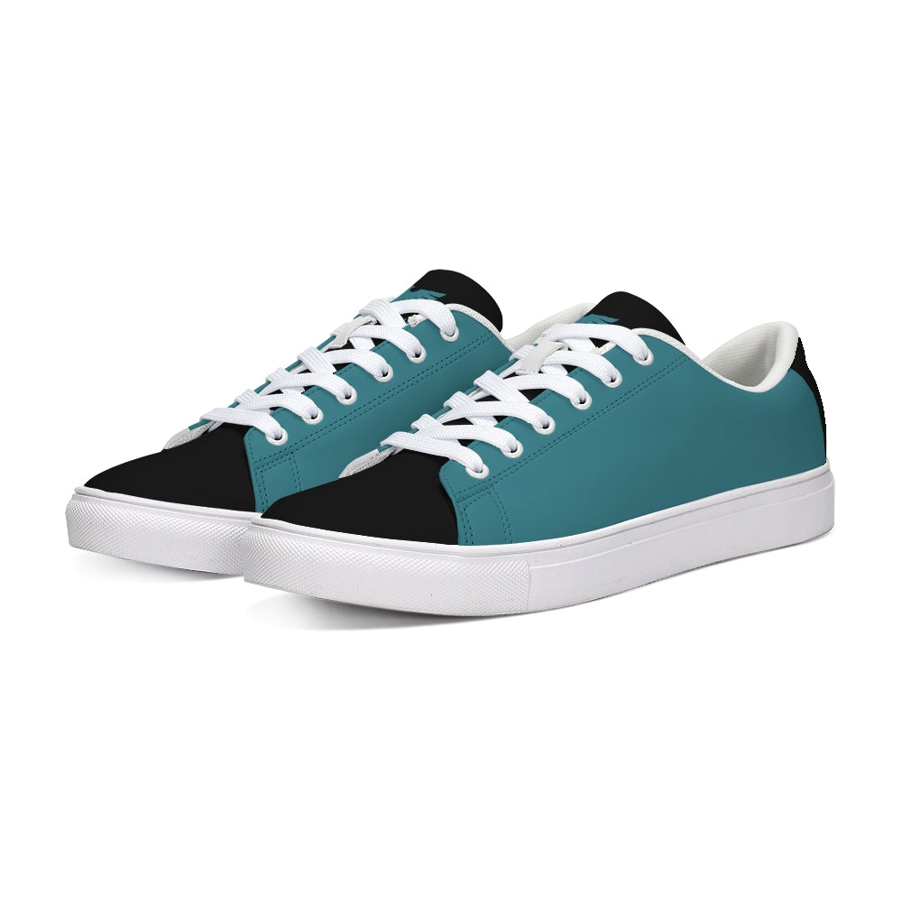 FYC Supply Co. Limited Edition Black and Teal Low Top Sneaker - Find Your Coast Supply Co.