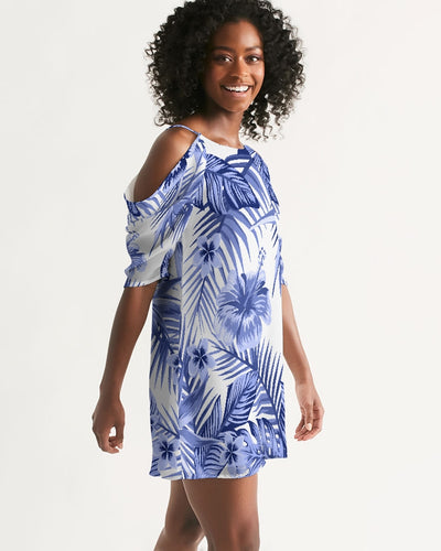 Women's Pacific Supply Open Shoulder A-Line Dress - Find Your Coast Supply Co.