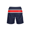 Men's Find Your Coast Classic Red Stripe Beach Shorts UPF 40+ w/Lining - Find Your Coast Supply Co.