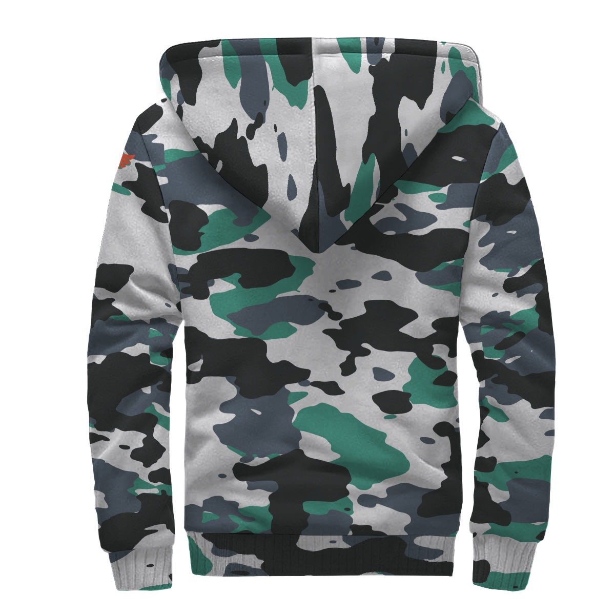 Find Your Coast White Camo Sherpa Lined Zip Up Hoodie - Find Your Coast Supply Co.