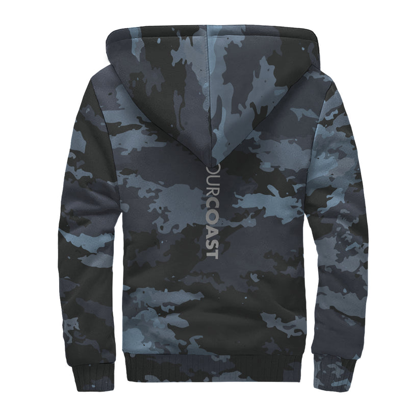 Find Your Coast 'Coast Camo' Sherpa Lined Zip Up Hoodie (Pre-Order)