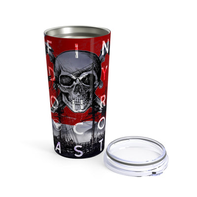 FYC Life Stainless Steel Jolly Roger 20 oz Tumbler - Find Your Coast Supply Co.