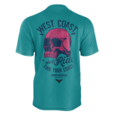 Men's FYC Supply Co. Surf Rider Recycled rPET Knit Tee Shirt - Find Your Coast Supply Co.