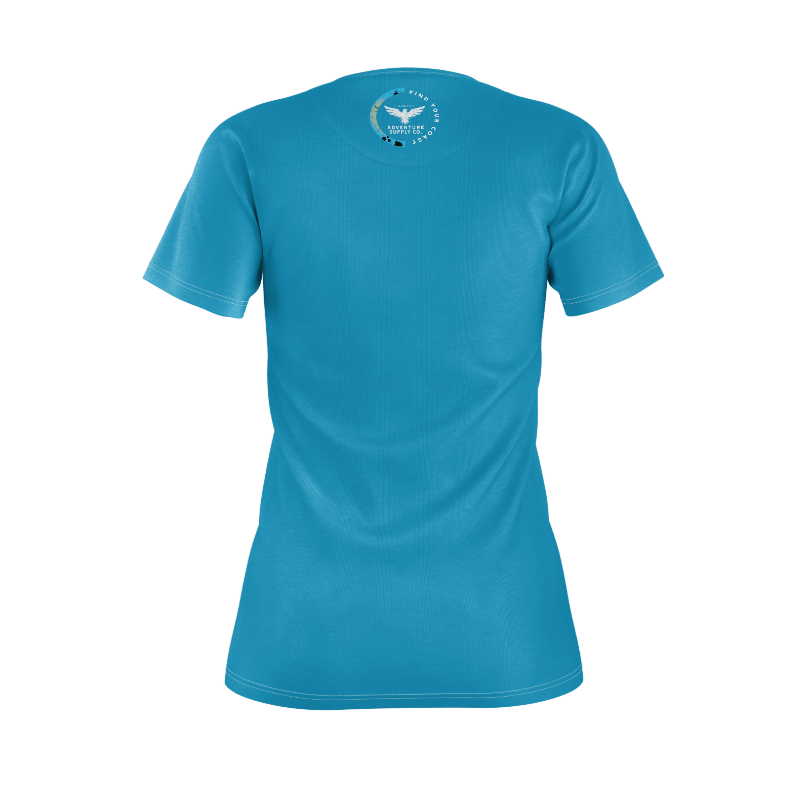 Women's Find Your Coast Twin Palms Recycled rPET Knit Tee Shirt - Find Your Coast Supply Co.