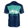 Men's FYC Supply Co. West Coast Recycled rPet Knit Navy Tee Shirt - Find Your Coast Supply Co.