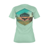 Women's Find Your Coast Sustainable Coast Culture Light Green Tee Shirt - Find Your Coast Supply Co.