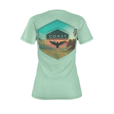 Women's Find Your Coast Culture Recycled rPET Knit Tee Shirt