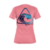 Women's Find Your Coast Big Wave Sustainable Coral Tee Shirt - Find Your Coast Supply Co.