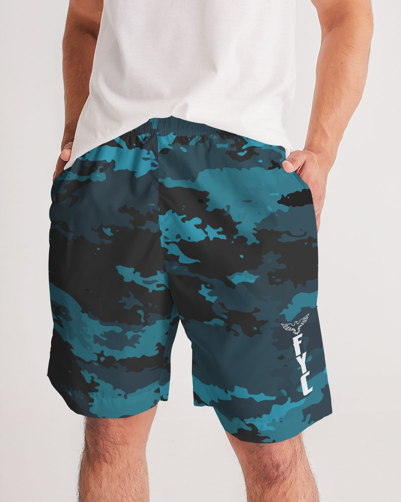 Men's Coast Camo Ocean Lightweight Windbreaker Jogger Shorts