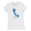 Women's Slim Fit California Girl Cotton Tee - Find Your Coast Supply Co.