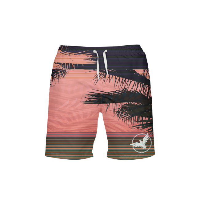 Men's FYC Summer Stripe Beach Shorts UPF 40+ w/Lining - Find Your Coast Supply Co.