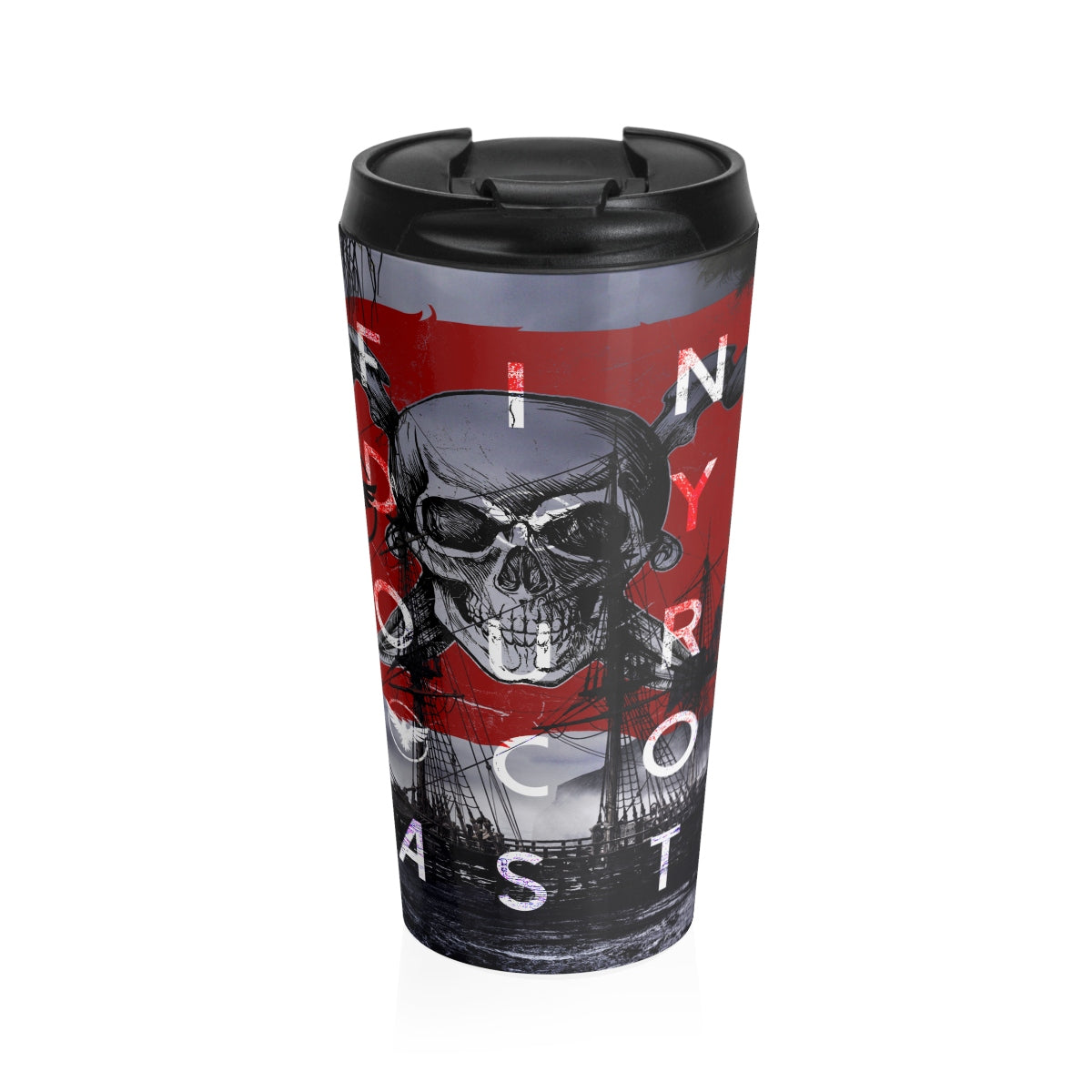 Jolly Roger Stainless Steel Travel Mug - Find Your Coast Supply Co.