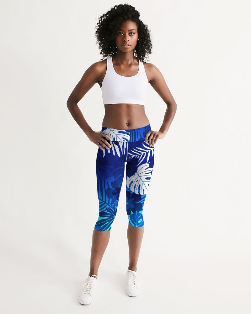 All Day Comfort Mid-Rise Capri Leggings Cayman - Find Your Coast Supply Co.