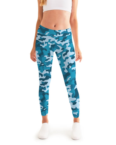Women's Active Comfort Blue Camo Sport Yoga Pant - Find Your Coast Supply Co.