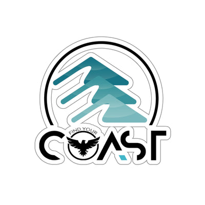 FYC Kiss-Cut Mountains to Coast Stickers - Find Your Coast Supply Co.