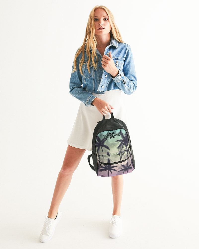 Find Your Coast Palm Paradise Small Canvas Backpack - Find Your Coast Supply Co.
