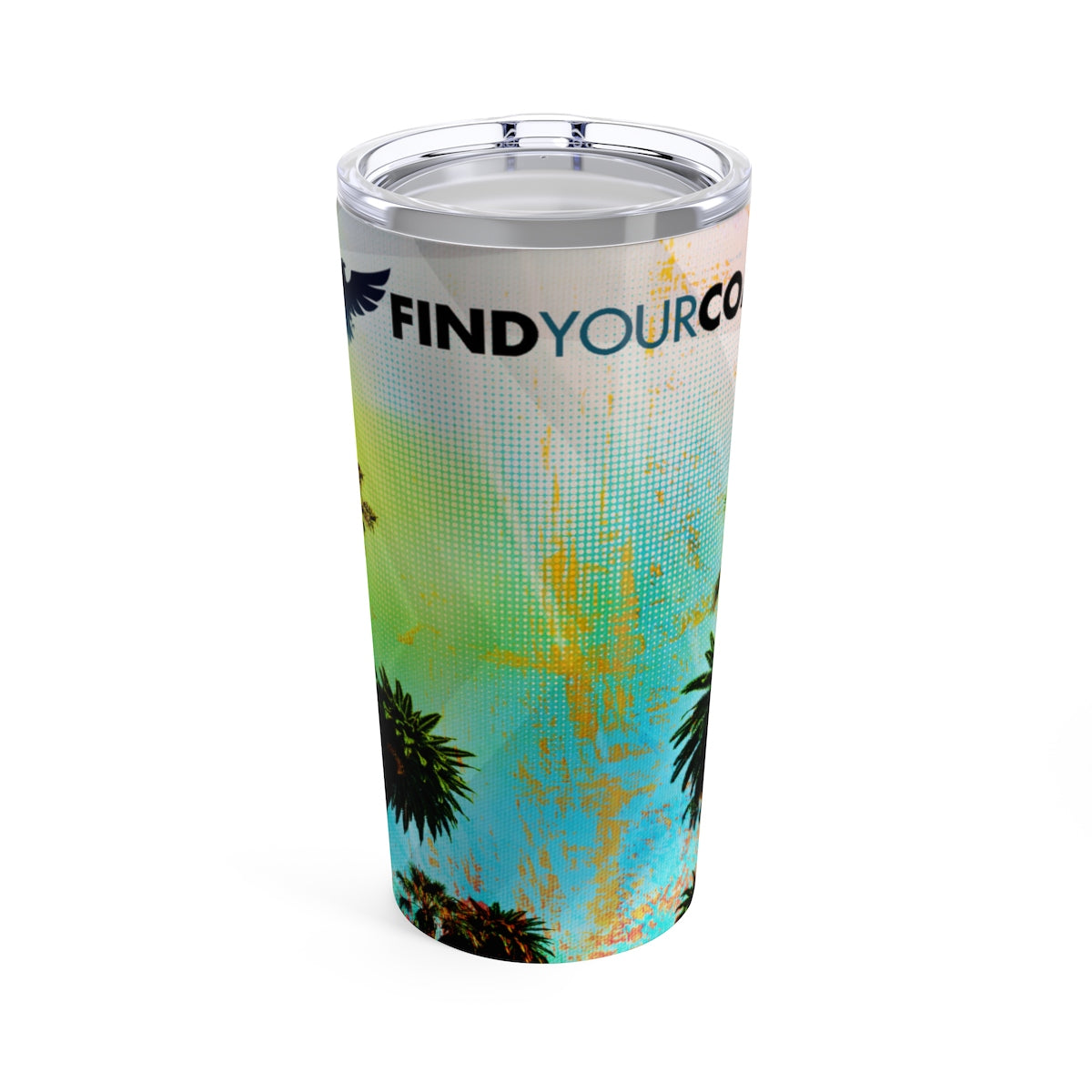 FYC 20 oz Stainless Steel Beach Art Tumbler - Find Your Coast Supply Co.