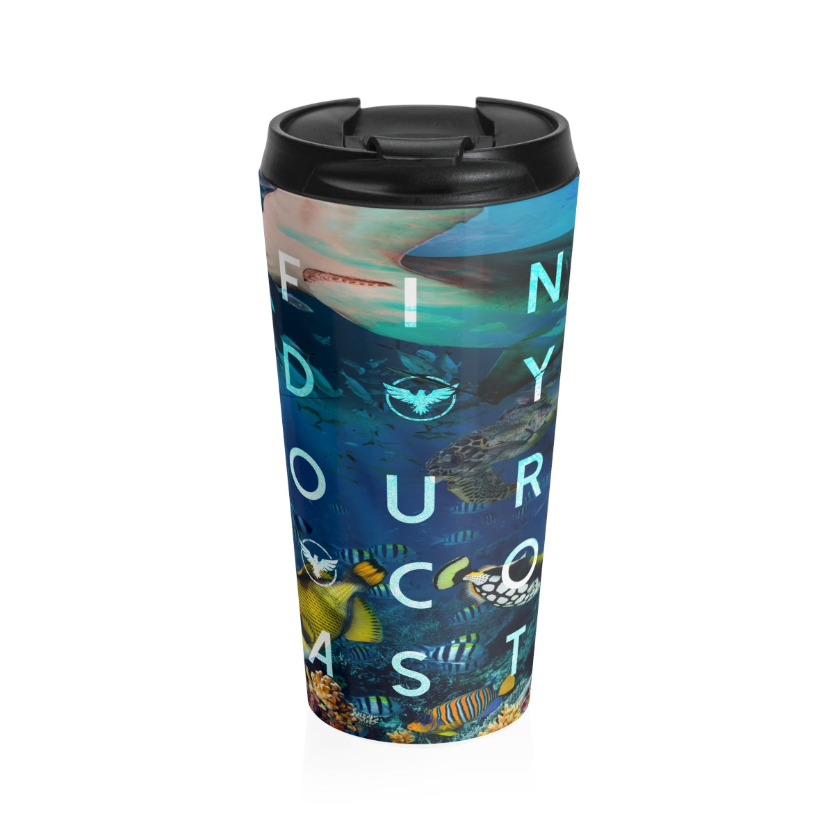 Ocean Life Stainless Steel Travel Mug - Find Your Coast Supply Co.