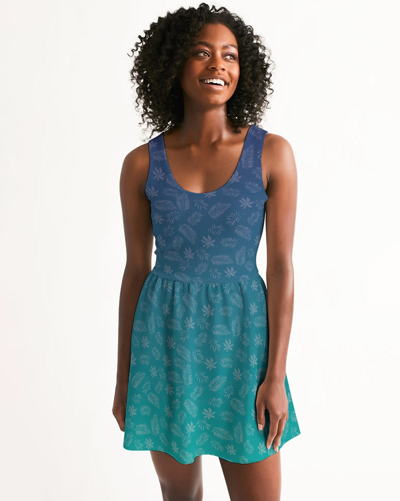 Women's Birdie Scoop Neck Casual and Fun Skater Dress - Find Your Coast Supply Co.
