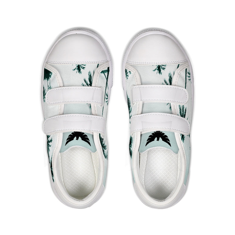 Find Your Coast Kids Canvas Palm Tree Velcro Sneaker Shoes - Find Your Coast Supply Co.