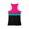 Women's Breathable Striped Tank Top Womens All-Over Print Tank