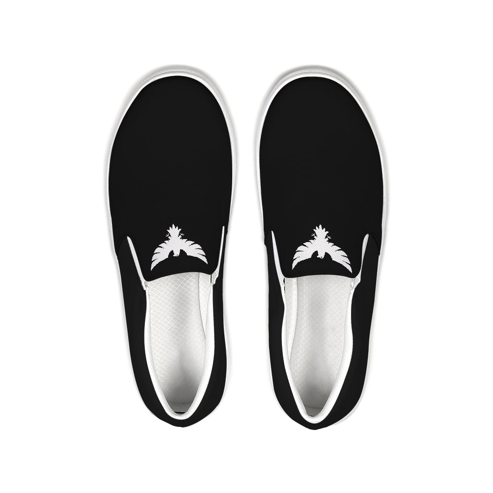 FYC Black Lifestyler Canvas Slip-On Casual Shoes - Find Your Coast Supply Co.