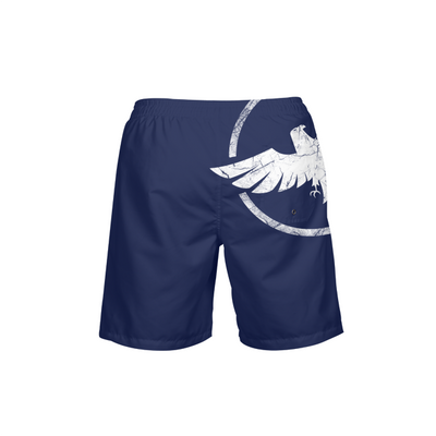 Men's Find Your Coast Coast Royale Blue Beach Shorts UPF 40+ w/Lining - Find Your Coast Supply Co.