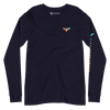 Women's All American Charter Series Navy Crewneck Rainbow Long Sleeve Shirt